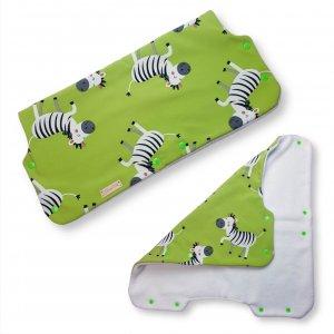 """Kinderwagenmuff Softshell """"Zebra"""""""