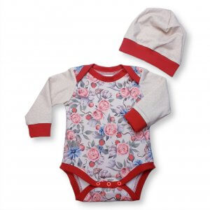 """Baby Set 2-teilig """"Blumen"""" Gr.62/68"""