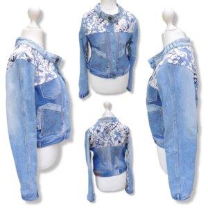 """Jacke Jeans """"Blumen"""" Gr.M (38)"""