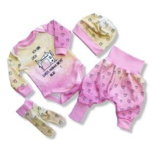 """Baby Set 4-teilig """"Nähen"""" Gr.62/68"""